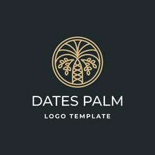 Luxury Dates Palm Logo Template