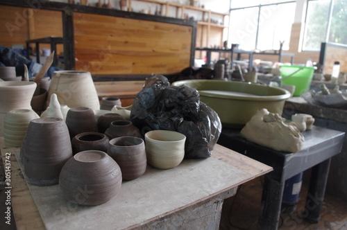 atelier céramique Canvas Print