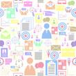 job seamless pattern background icon.