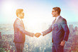 Businessman shaking hands in agreement