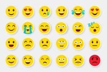 Emoji Sticker Face Set. Emotic...