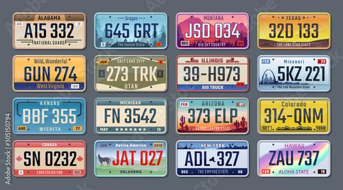 Fotografía  Car plates
