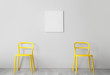 Leinwanddruck Bild - Stylish chairs near light wall