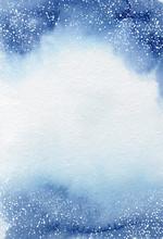 Watercolor Winter Abstract Bac...