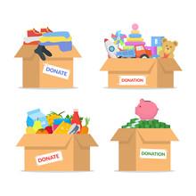 Cartoon Color Cardboard Donati...