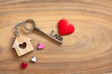 House Key In Heart Shape With ...