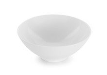 White Bowl Isolated On White B...
