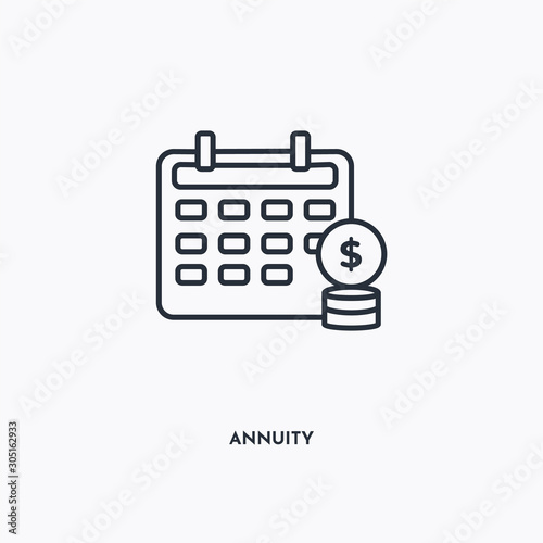 annuity outline icon Canvas Print