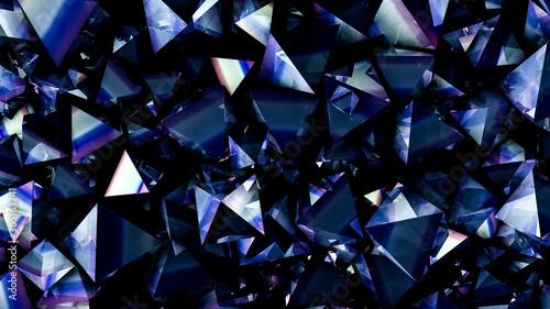 Fotografie, Obraz Tech tech triangle crystal background