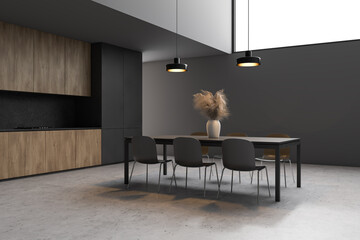 FototapetaStylish gray dining room corner