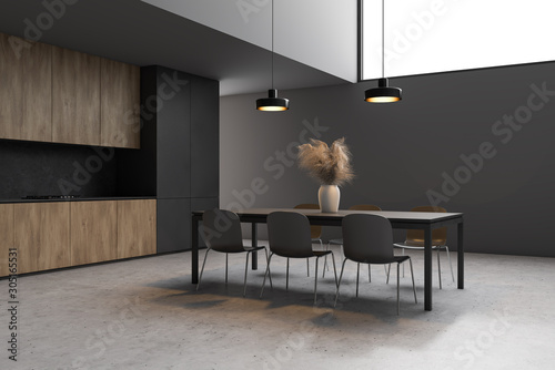 Poster Pays d Europe Stylish gray dining room corner