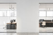 canvas print picture White office interior with mock up wall