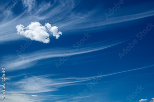 Valokuvatapetti Amazing Cirrus clouds invading the sky. California. USA