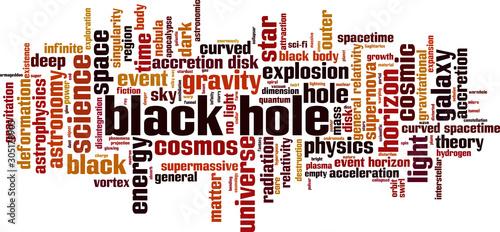 Black hole word cloud Fototapet