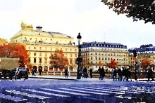 One Of The Squares In The Center Of Paris