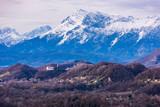 Fototapeta Do pokoju - First snow in the mountains of Friuli. Clear air. Italy