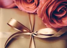 Luxury Holiday Golden Gift Box...