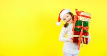 Cute Little Girl In A Santa Cl...