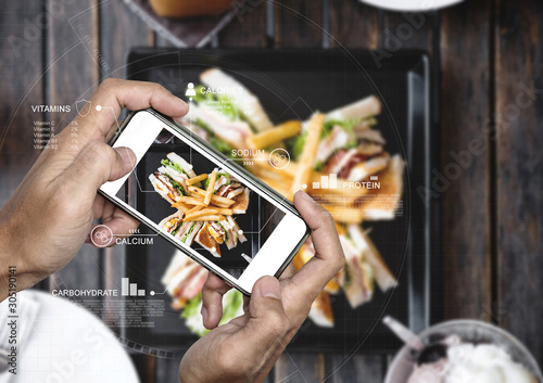 Fotografía Food Nutrition Scanning Technology, and Healthy eating Lifestyles