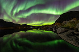 Fototapeta Na ścianę - Nordlichter auf den Lofoten