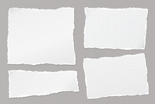 Set Of Torn White, Lined And S...