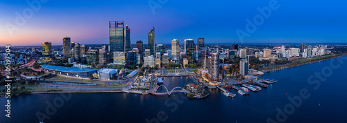 Perth Australia November 5th 2019:  Aerial panoramic view of the beautiful city Fototapet