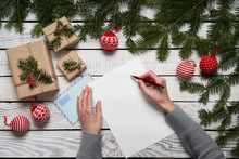 Christmas Letter Concept.