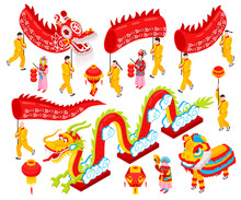 Chinese New Year Isometric Set