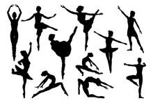Silhouette Ballet Dancer Woman...