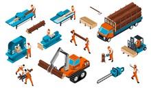 Carpentry Factory Icon Set