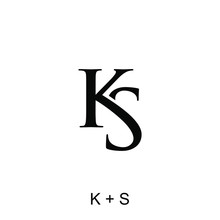 Letter K And S Concept For Initials Logo Template Ready To Use
