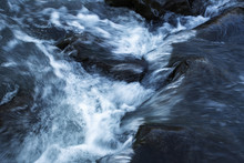 Abstract Detail Of Wild River Flow