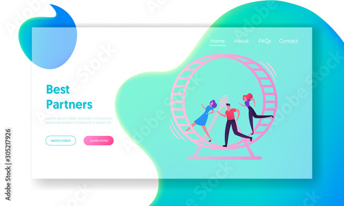 Cuadros en Lienzo Looping Life and Daily Routine Work Website Landing Page