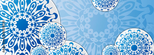 Fotografia Seamless pattern. Vintage decorative elements