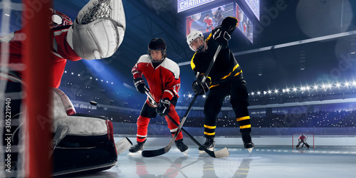 Ice hockey. Canvas Print