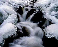 Waterfall In Winter, Sweden,sv...