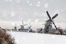 Windmills In Kinderdijk, The N...