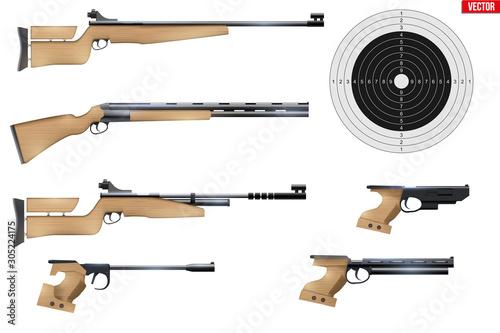 Fotografía  Set of Shooting Sport Equipment