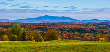 View Of Mount Mansfield From Shelburne Farms In Autumn