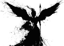 Black Silhouette Of An Angel D...