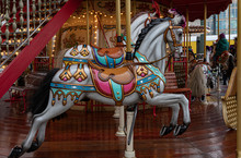 Carousel With Horses. Ornate P...