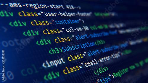 Fotografía Code, HTML, php web programming source code