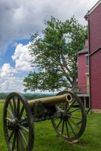 A Civil War Artillery Piece At...