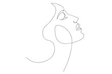 Continuous Line, Drawing Of Se...