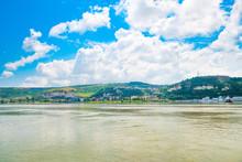 Danube River On The Border Bet...