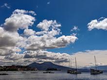 Vesuvius Seen From The Naples Bay