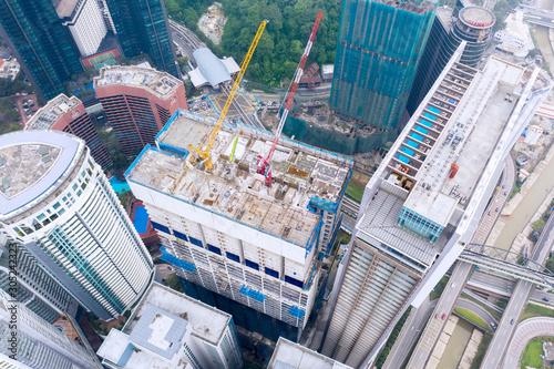 Canvas Prints Kuala Lumpur Building development in Kuala Lumpur