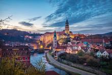Cesky Krumlov, Czechia. Citysc...