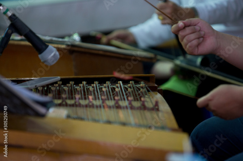 Photo  Playing Chinese instruments, In the funeral (select focus)