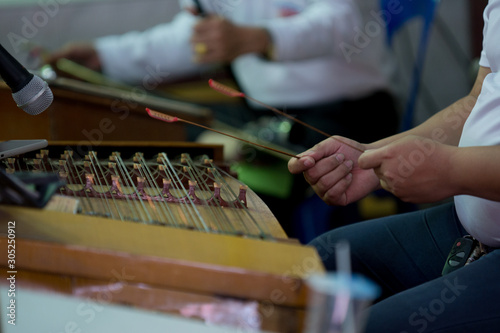 Playing Chinese instruments, In the funeral (select focus) Fototapet